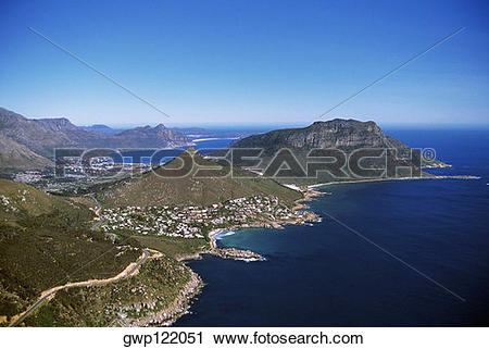 Stock Photography of Coastline, Cape of Good Hope, South Africa.