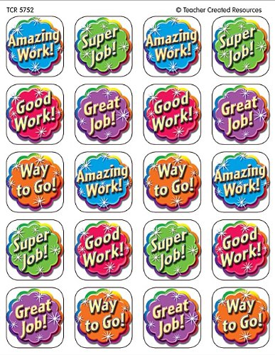 Amazon.com: Teacher Created Resources Good Work Stickers, Multi.