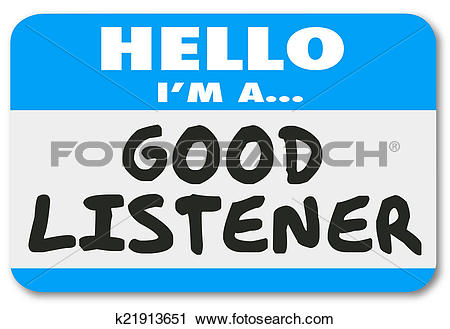 Stock Photography of Hello I Am A Good Listener Sympathy Empathy.
