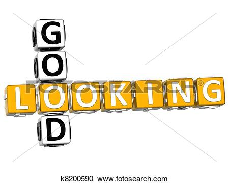 Stock Illustrations of 3D Good Looking Crossword k8200590.