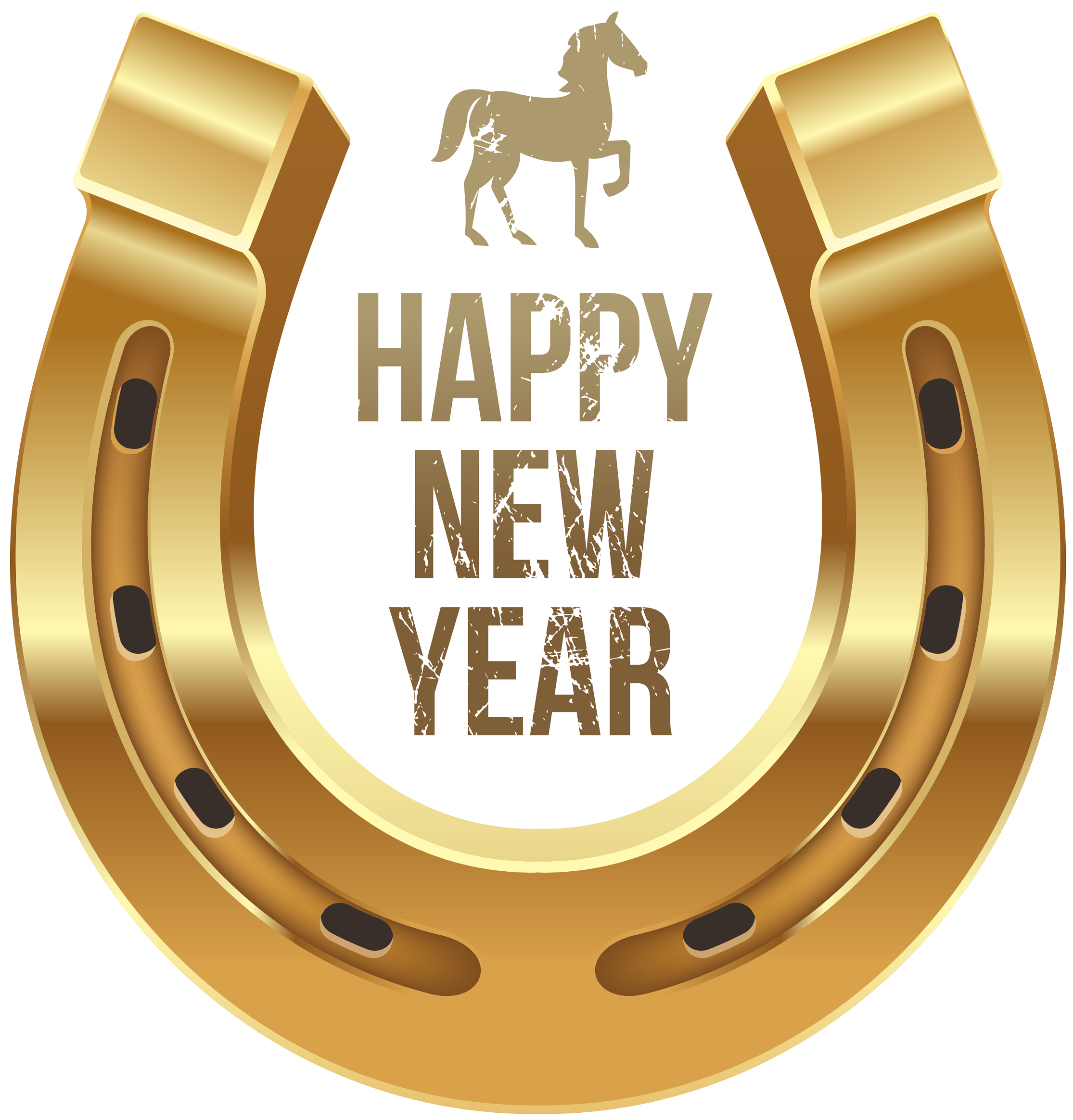 Happy New Year good luck horseshoe.