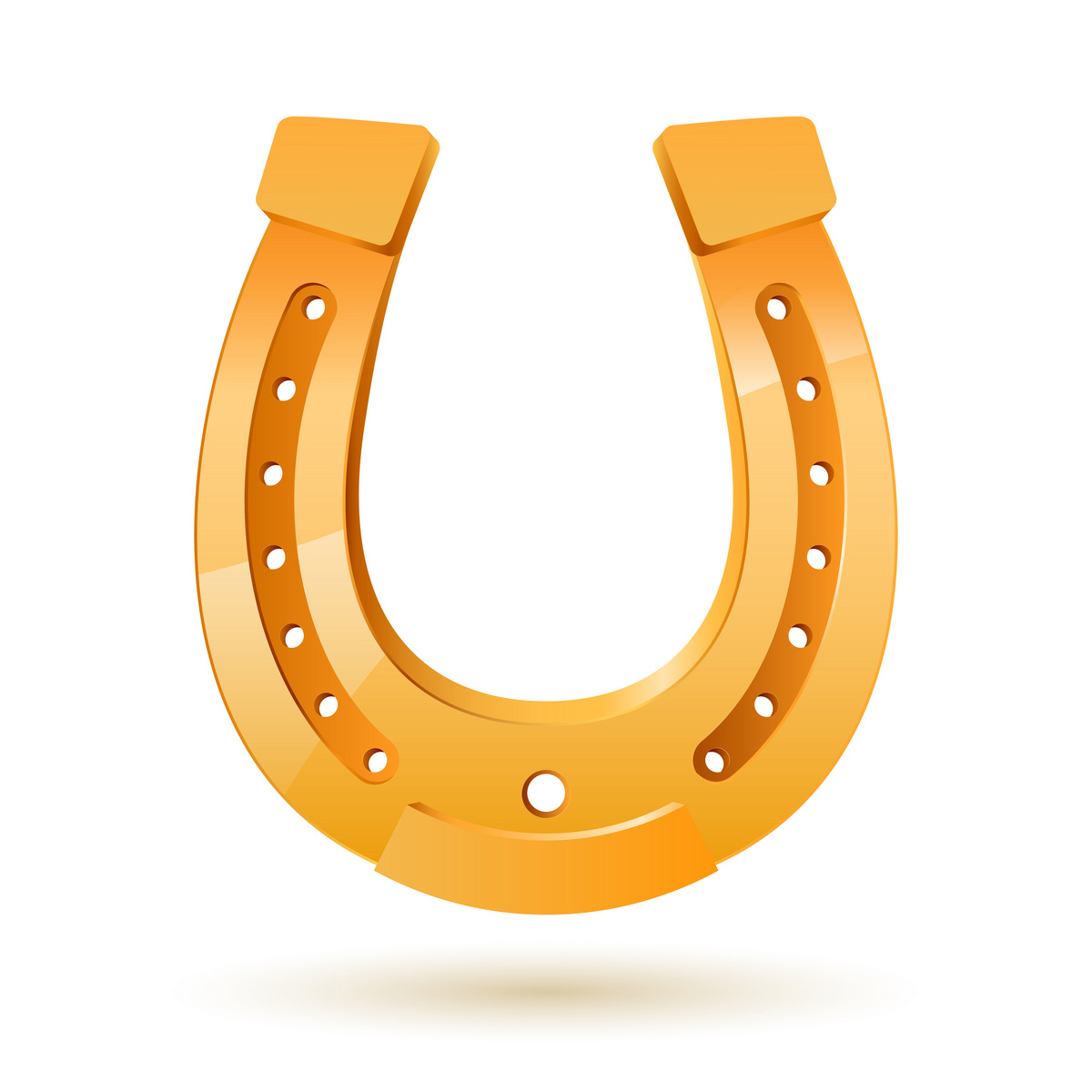Horseshoe Template Clipart.
