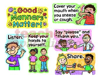 Showing Good Manners Clipart.