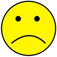 Sad mood clip art.