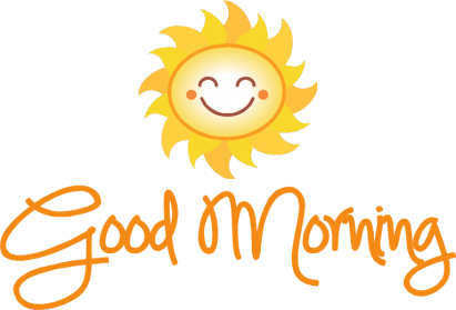Download Good Morning PNG Transparent Picture 411x279 For Designing.