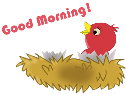 Free good morning clipart.