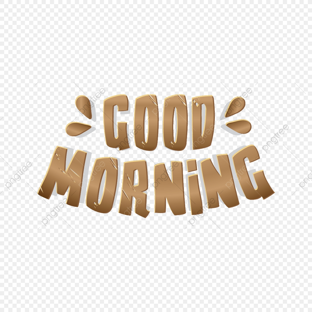 Good Morning Typography, Abstract, Background, Banner PNG and Vector.