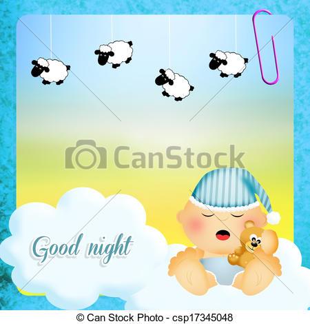 Drawing of Good night.