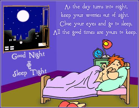 Good Night Clipart.
