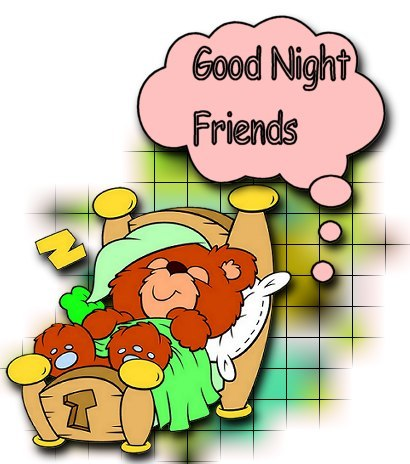 Good Night Animated Clipart.
