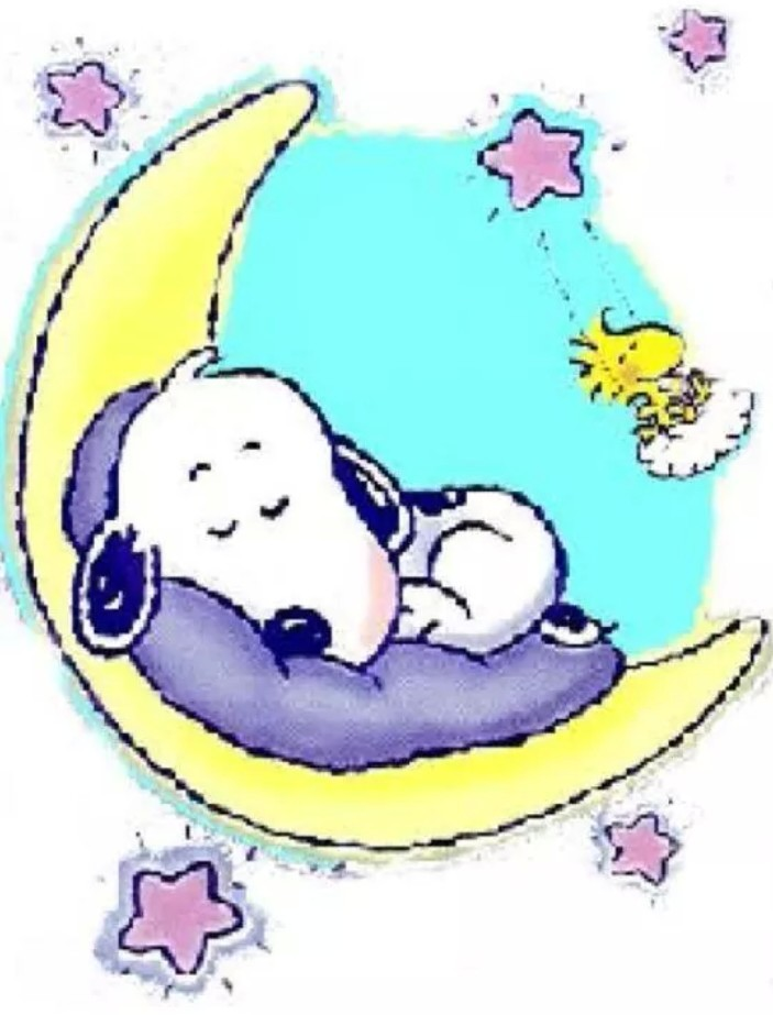 Snoopy Good Night Clip Art free image.