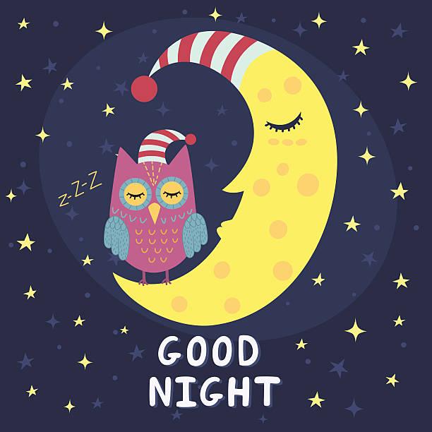 Best Good Night Illustrations, Royalty.