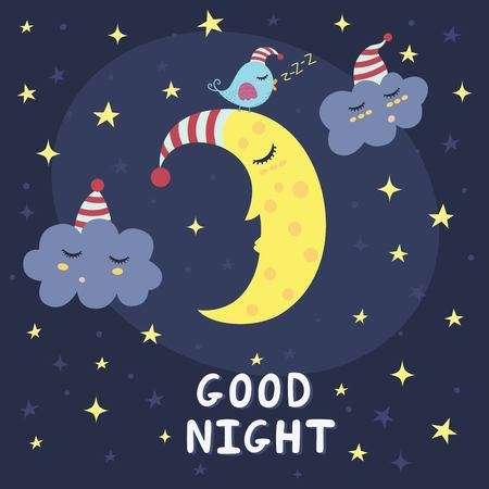 6,828 Good Night Stock Illustrations, Cliparts And Royalty Free Good.