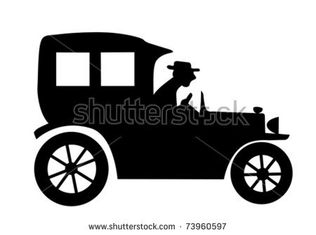 Old Car Clip Art Black And White Stock Images, Royalty.
