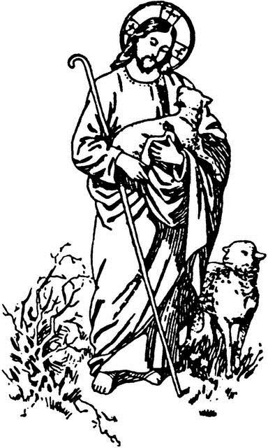 Good Shepherd Line Drawing.