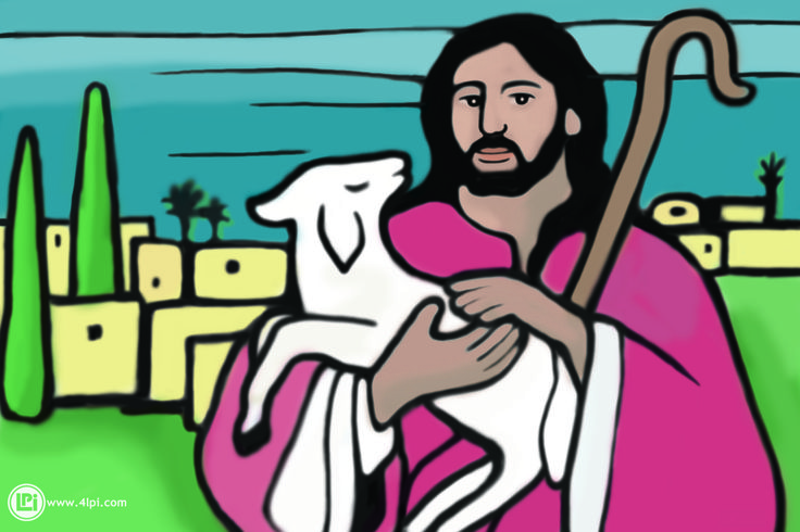 Jesus is the Good Shepherd and knows his sheep #Clipart.