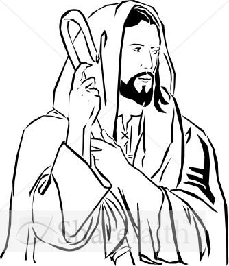 Jesus the shepherd clipart.