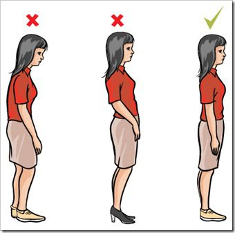 Standing Posture Clipart.
