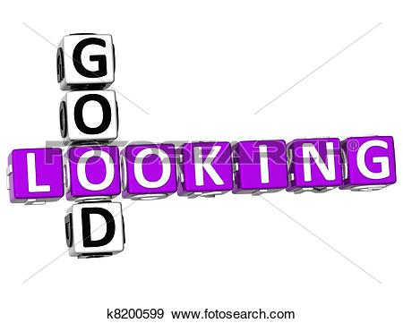 Stock Illustration of 3D Good Looking Crossword k8200599.