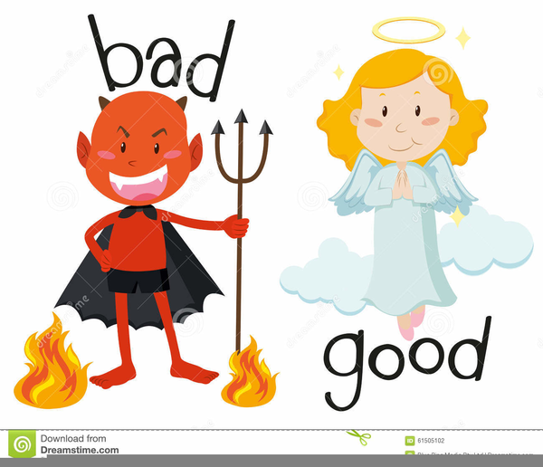 Free Good Vs Evil Clipart.