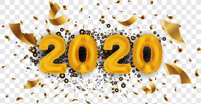 Happy New Year Clipart 2020 Free Text PNG HD Images.