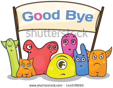 Happy goodbye clipart.