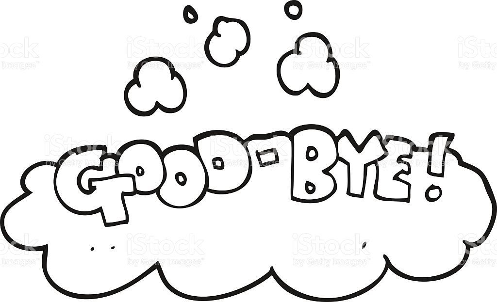 Black And White Cartoon Goodbye Symbol stock vector art 518526538.