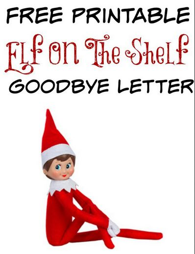 Adorable image pertaining to elf on the shelf goodbye letter free printable