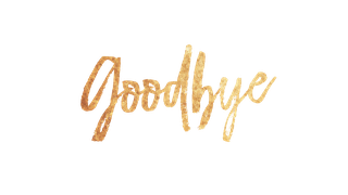 Goodbye PNG images free download.