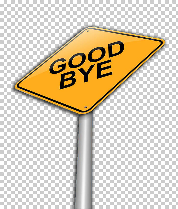 Traffic sign Brand Text, Sign goodbye PNG clipart.