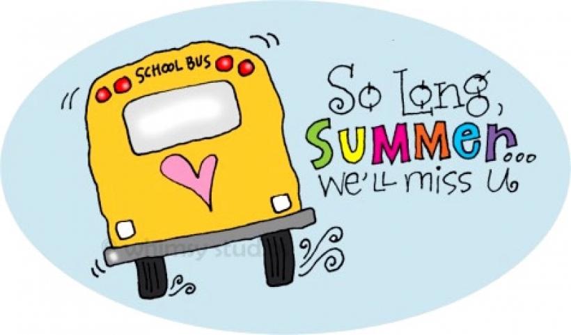 Goodbye summer clipart.
