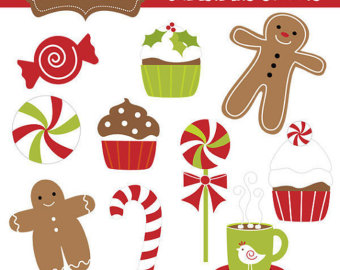 Christmas goodies clipart.