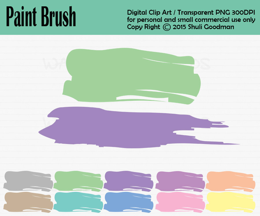 Pain brush Clipart, Personal and Commercial Use.