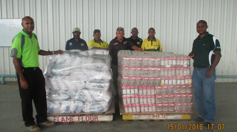 GFI donates relief supplies.