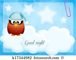 Good night Clipart and Stock Illustrations. 727 good night vector.