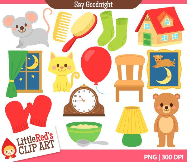 Goodnight Moon Inspired Clip Art and Digital Stamps.
