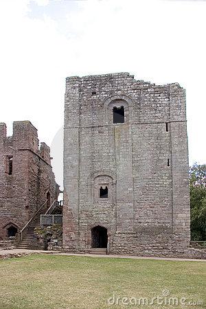Goodrich Castle Stock Photo.