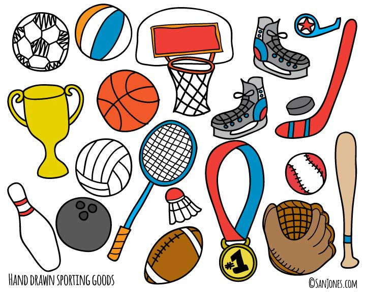 Sporting Goods Store Clipart.