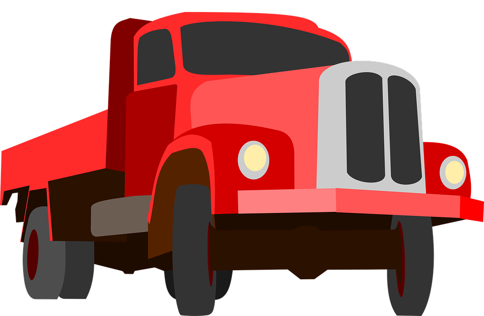 Free vector graphic: Truck, Traffic, Cargo, Goods, Red.