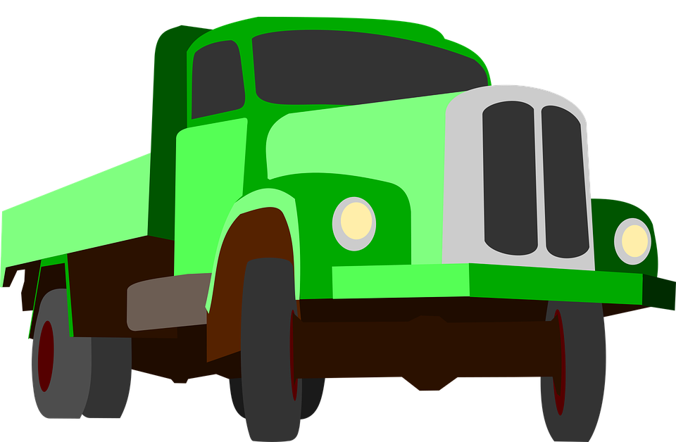 Free vector graphic: Truck, Traffic, Cargo, Goods, Green.