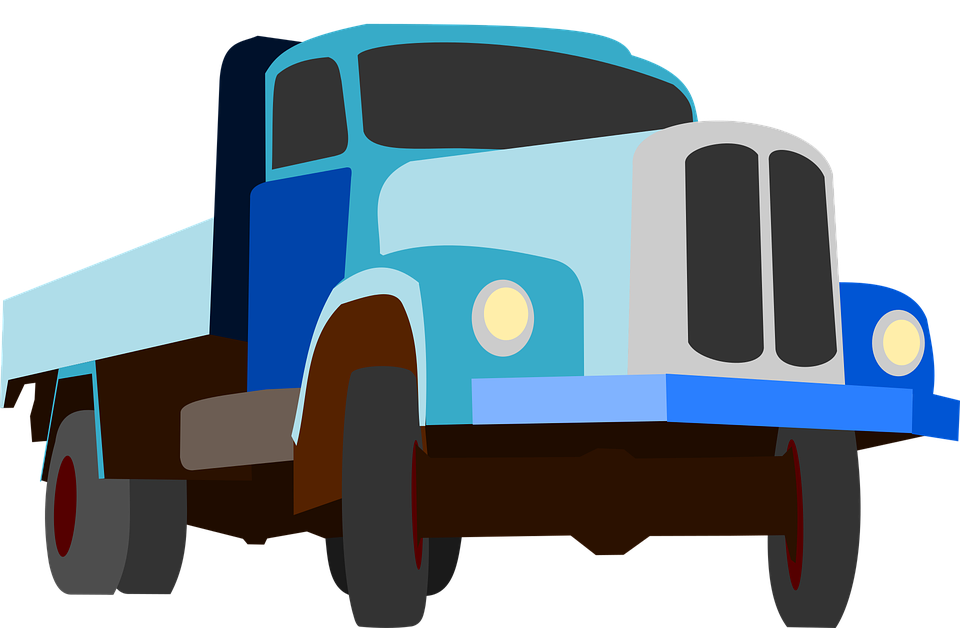 Free vector graphic: Truck, Traffic, Cargo, Goods, Blue.