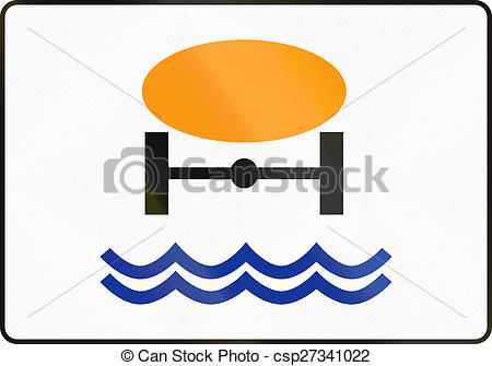 Clip Art of Goods Dangerous To Water Reserves In Poland.