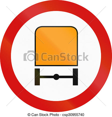 Drawing of No Dangerous Goods in Poland.