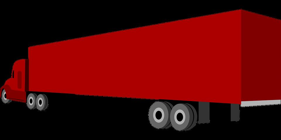 Free vector graphic: Trailer, Goods Traffic, Truck.