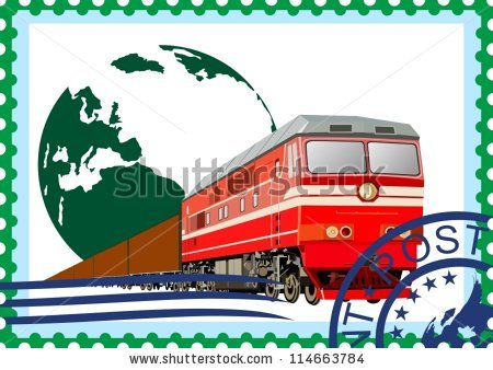 Goods Train Stock Images, Royalty.