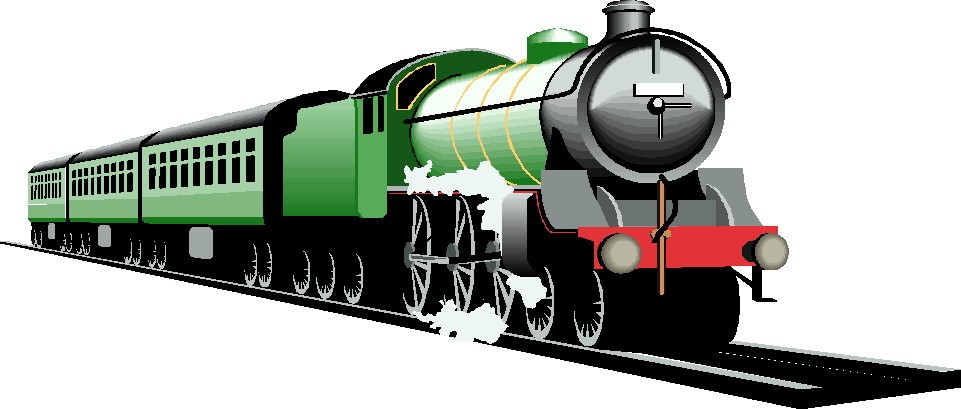 Goods Train Clipart.