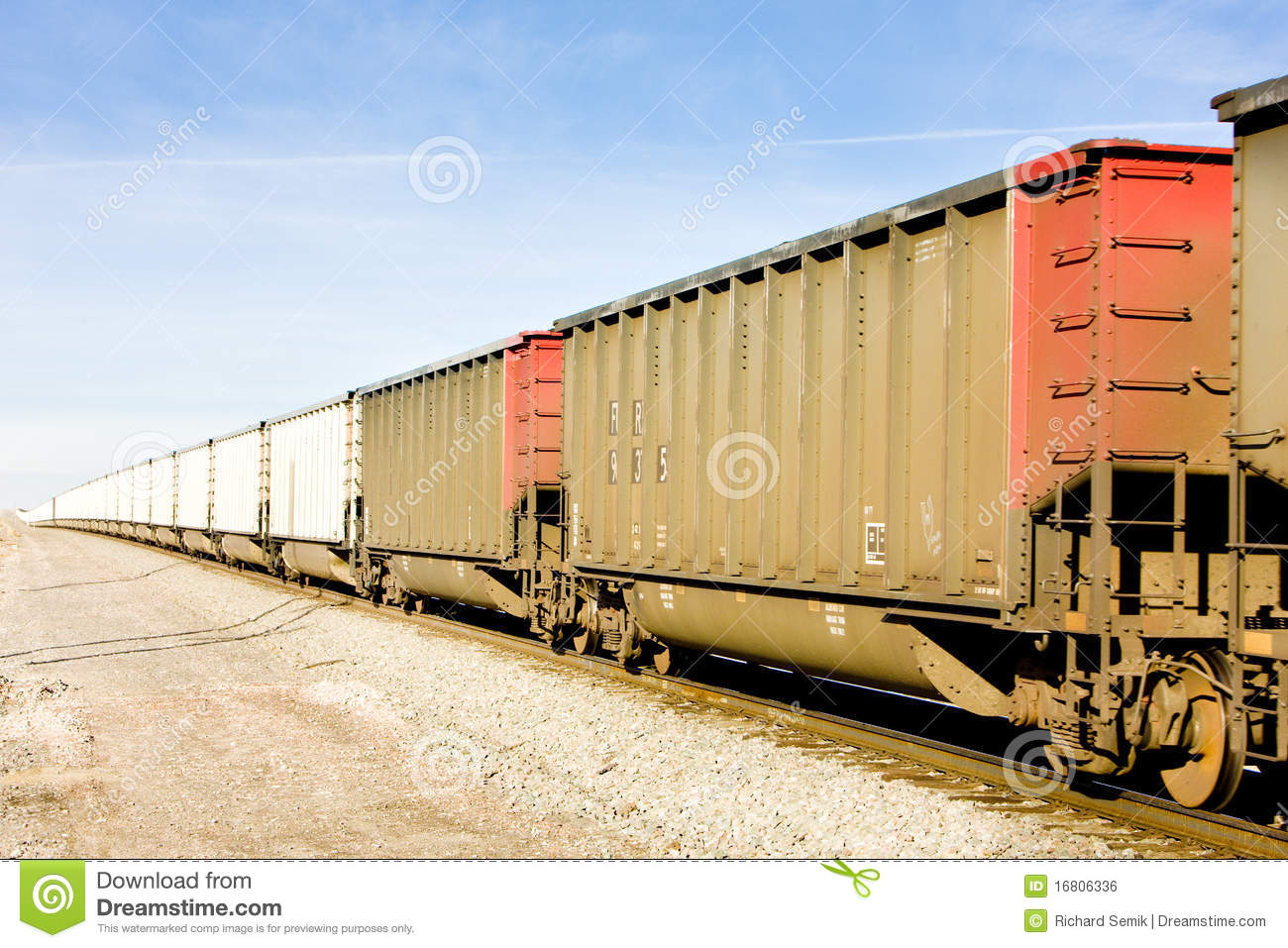 Freight Train Royalty Free Stock Image.
