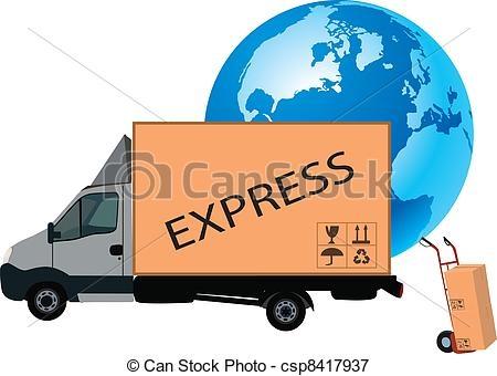 Transportation Of Goods Clipart.