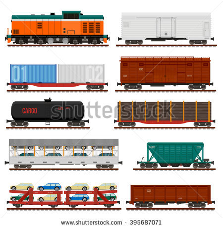 Goods Train Stock Photos, Royalty.