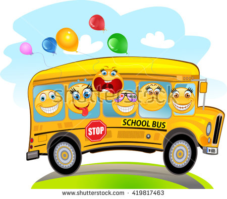 Cartoon Bus Stock Images, Royalty.